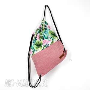 dbeee801794b7 ... szerokośćwyprzedano worek plecak kolorowy liście flaming, worek, plecak,  kolorowy, pojemny, flaming