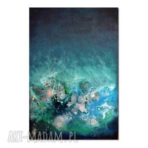 AleksandraB. Nebula U7, abstrakcja, nowoczesny obraz ręcznie