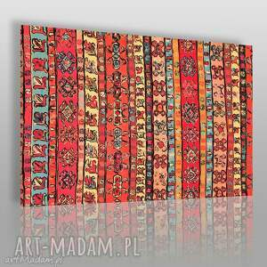 obrazy obraz na płótnie - wzór etno 120x80 cm 10701 , wzór, etno, wzorki, kolory