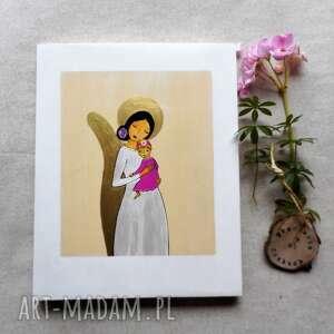 dla dziecka obrazek na chrzest święty - rezerwacja, anioł stróż