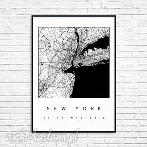 Prezent grafika new york, mapa, mapy, nowy-jork, paryż,