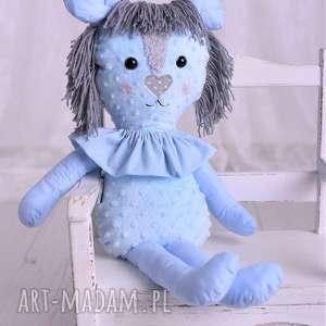 przytulanka dziecięca lew niebieski, pomysł-na-prezent, prezent-dla-dziecka