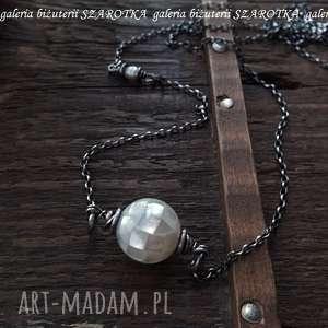 PERŁOWA UKŁADANKA naszyjnik z muszli, perły i srebra, muszla, perła, srebro