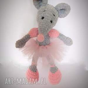 minimis myszka balerina szydełkowa, myszka, balerina, szydełko, włóczka