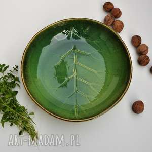 "Misa ""liść"" ceramika tyka ceramika, misa, patera, liść, kuchnia,"