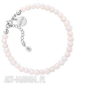 srebrna bransoletka z pereł naturalnych, bransoletka, perły, perłynaturalne