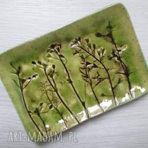 ceramika roślinna mydelniczka, podstawka na mydło, organiczna