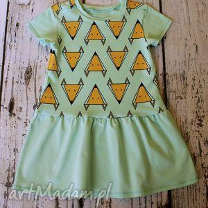 handmade ubranka sukieneczka - lisk na mięcie