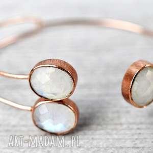 hand made bransoletki kamień księżycowy 925 /18k różowo pozł.bransoletka