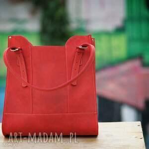 torba,Skóra naturalna, torebka czerwona , Handmade,skórzana torebka, czerwone, skóra