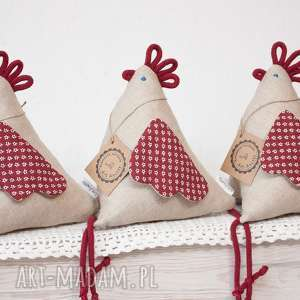 hand-made dekoracje kura kurka kokoszka z materiału