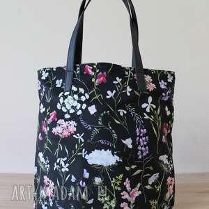 Worek hobo - polne kwiaty na ramię torebki niezwykle elegancka