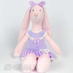 Króliczek lalki szyszka dziergajka maskotka, lalka, przytulanka