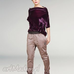 Sztruksowe spodnie ze ściągaczem non tess sztruks, sztruksowe