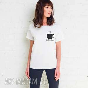 hand-made koszulki coffee lover oversize t-shirt