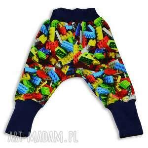 klocki kolorowe spodnie bawełniane dla dziewczynki, chłopca