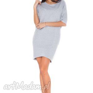 ręcznie wykonane sukienki sukienka o_2 jasnoszary