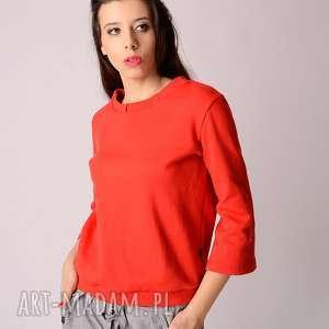handmade bluzki bawełniana bluza z rękawem dzwonkiem