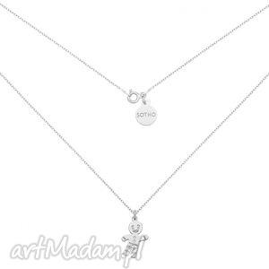 srebrny naszyjnik z ciastkiem, modny, minimalistyczny, ciastek, piernik, srebro
