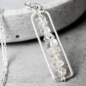 925 Srebrny łańcuszek Diament Herkimer - ,kamień,minerał,srebro,srebrny,925,kobiecy,