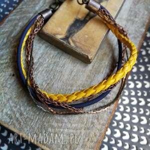 ręcznie zrobione bransoletka rzemyk prosta boho