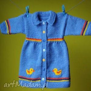 ubranka sweterek-płaszczyk kaczuszki, sweterek, płaszczyk, włóczka, ciepły