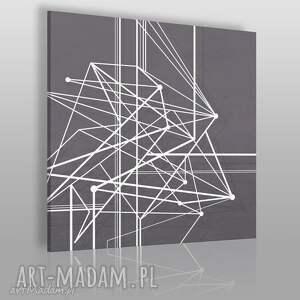 obraz na płótnie - linie krzywe w kwadracie 80x80 cm 47802, krzywe