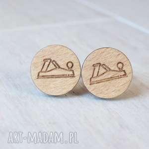 handmade spinki do mankietów drewniane hebel