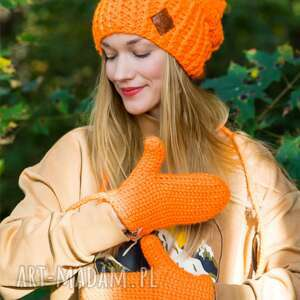 handmade rękawiczki mechaniczna pomarańcza