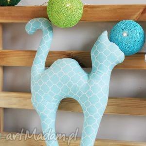 Maskotka Kocie Figle ;), kot, kotek, zabawka, grzbiet, bawełna