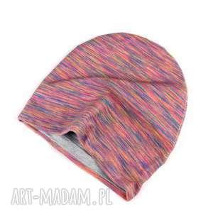 Prezent Melanzowa różowa czapka dwustronna dla dziecka, czapka, dwusutronna, dziecko