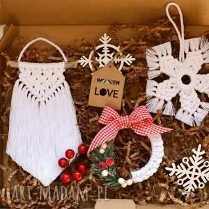 3 x zawieszka świąteczna, zawieszka, gwiazda, makrama, ze sznurka, ozdoba