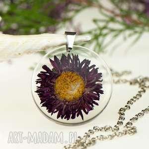 Prezent z1314 Naszyjnik z prawdziwym kwiatem-5cm , naszyjnik-z-kwiatem
