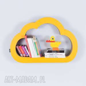 Półka na książki zabawki CHMURKA ecoono | żółty, półka, chłopiec, dziewczynka