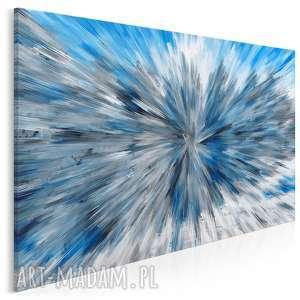 obraz na płótnie - abstrakcja niebieski 120x80 cm 87701