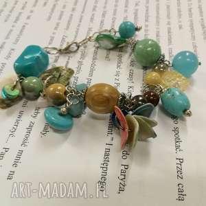 bransoletka kolorowa koralikowa damska wiosenna, bransoletka, etno, boho