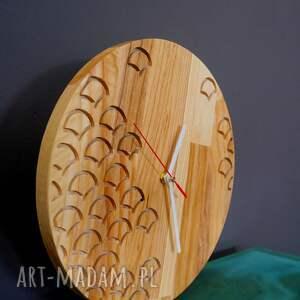 zegary zegar ścienny z drewna dębowego,frez,wzór nr 1, ścienny, wzory