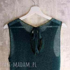 ręcznie zrobione bluzki letnia bluzka, top kid mohair