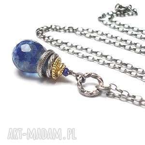 katia i krokodyl royal blue /kropelka/ - naszyjnik, srebro oksydowane