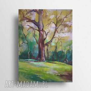 drzewo-praca wykonana pastelami, pejzaż, drzewa, pastele