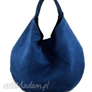 big blue, hobo, torebka, zamsz, alkantara, unikalny prezent