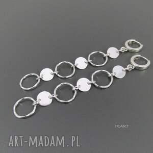 kolczyki długie - srebro iv, srebro, kolczyki, biżuteria