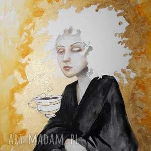 tworzenie światów przy kawie akwarela artystki adriany laube, portret, kobieta