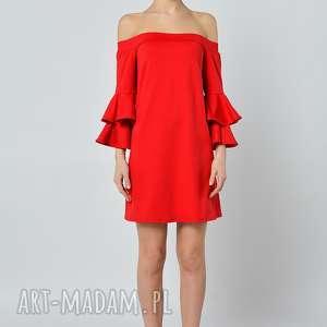 PEPPERONI - CZERWONA SUKIENKA, czerwona, jersey, sukienka