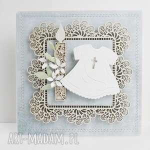 Pamiątka chrztu - w pudełku scrapbooking kartki marbella chrzest