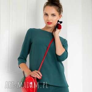 bluzki bluzka sangria zielona, bluzka, elagancka, uniwersalna, dopracy, wygodna