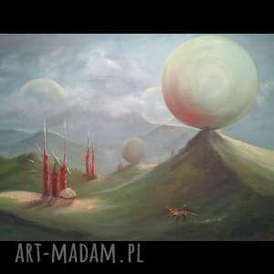 rossinante, obraz olejny na płótnie, obraz, fantasy, kosmos, pejzaż, malarstwo