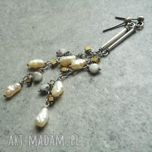 perły w srebrze, lekkie kolczyki, srebrne kolczyki z perłami, prezent