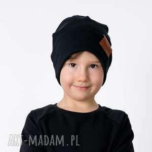 ręcznie wykonane czapki czapka podwójna czarna