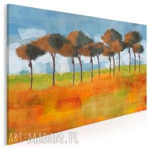obraz na płótnie - pejzaŻ rustykalny drzewa 120x80 cm 93201, pejzaż, krajobraz